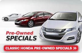 Honda Certified Pre-Owned Specials